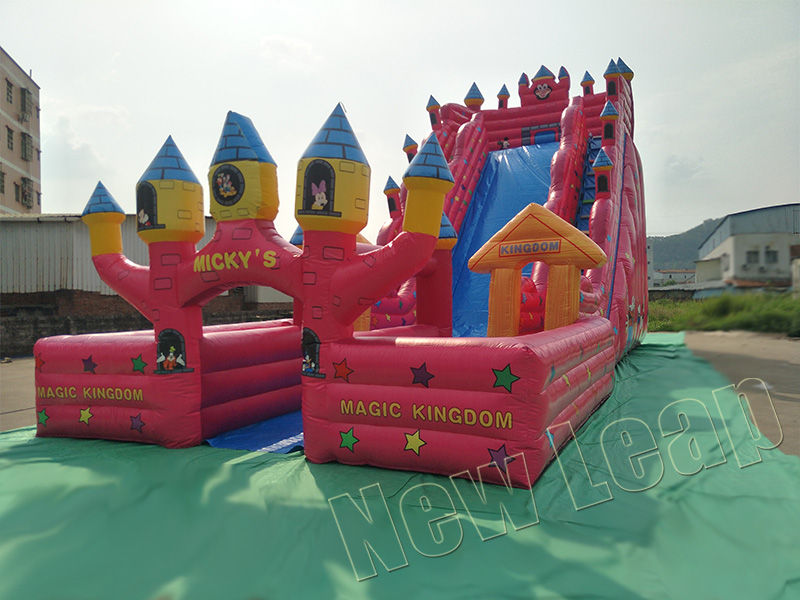 mickey house inflatable slide