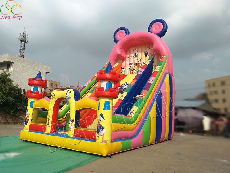 inflatable mickey slide