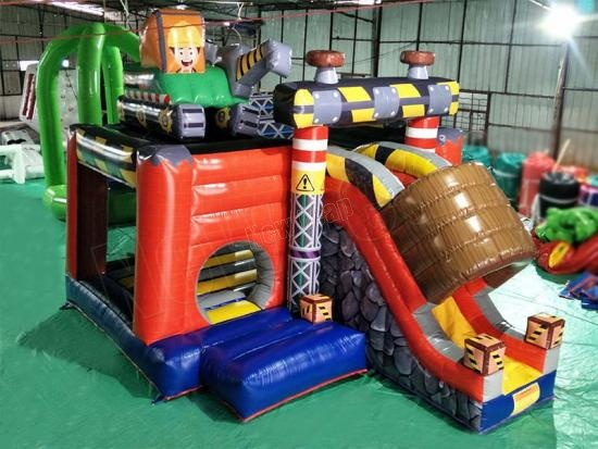 inflatable bounce house combo slide