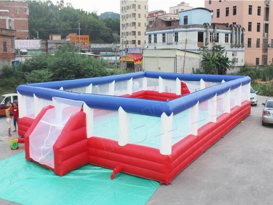 cheap NewLeap Customized Outdoor Football Arena Inflatable Soccer Games