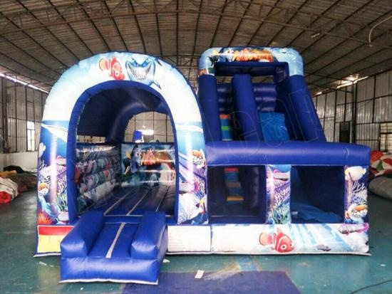 inflatable jumping castle combo slide