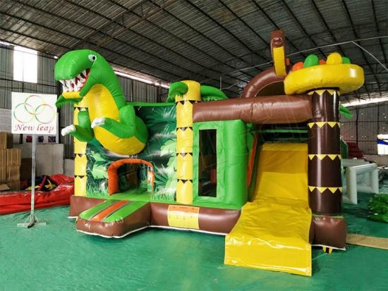 inflatable bouncy castle combo slide