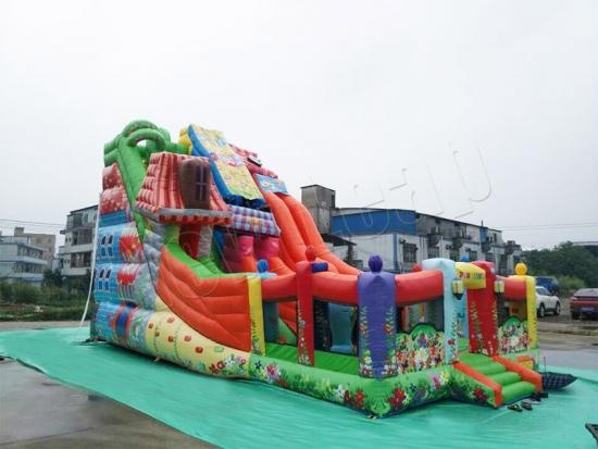 Colourful and impressive giant slide