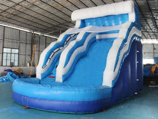 inflatable slide with water pool