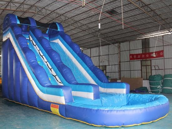 inflatable water slide combo pool