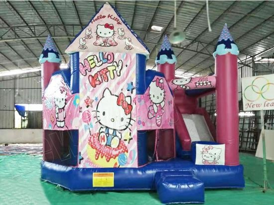 Party jumping castle with slide