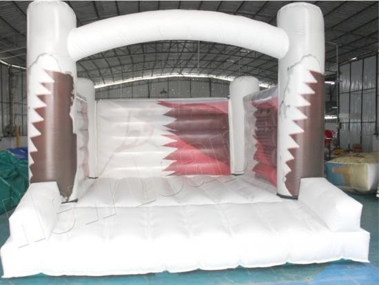 White inflatable jumping castle