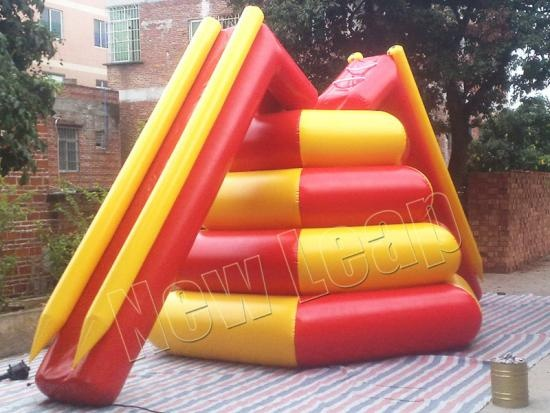 cheap Aqua Floating Water Slide Climb Tower Inflatable Games