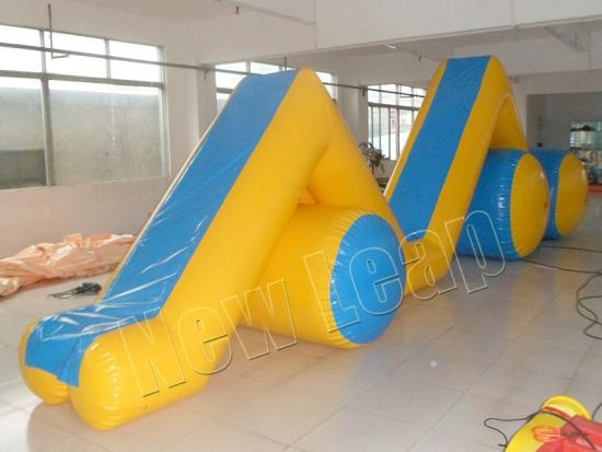 cheap Inflatable Floating Climb Water Slide Aqua Water Games