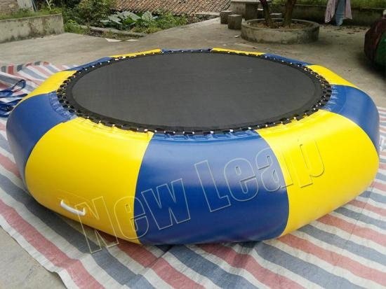 cheap Floating Island Lake Aqua Park Water Trampoline with Bouncer