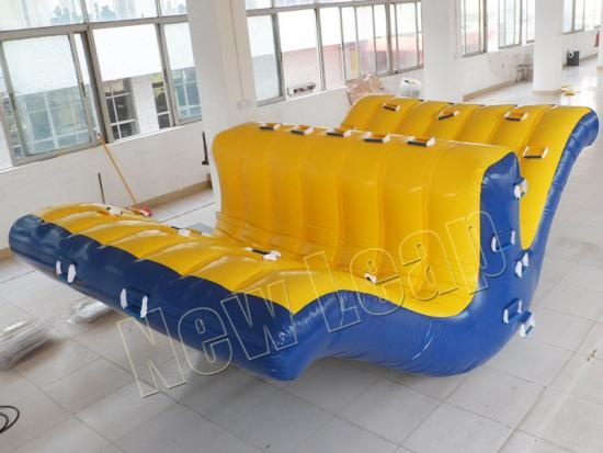 Inflatable seasaw rocker