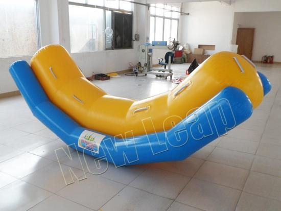 Inflatable seasaw water games