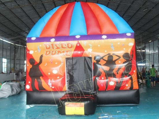 Inflatable disco dome bounce house