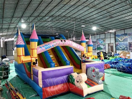 Inflatable bounce house slide