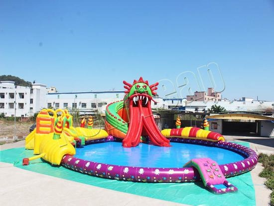 inflatable dinosaur water slide games for adults