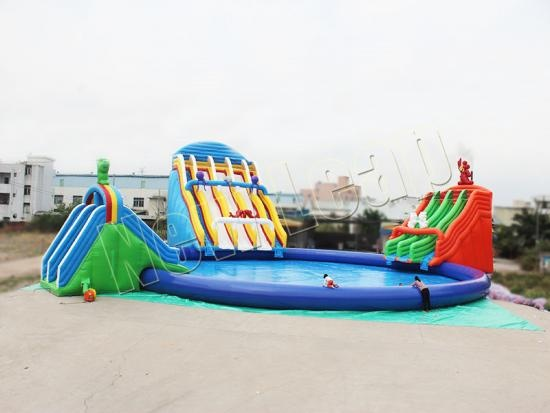 Commercial inflatable  water slide games
