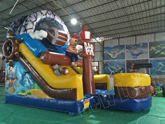 giant inflatable pirate ship