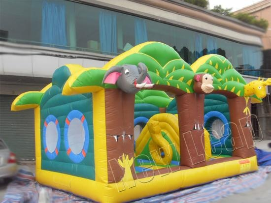 jungle inflatable play park