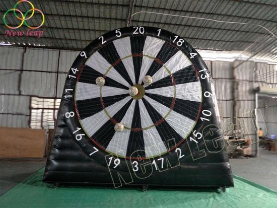 inflatable soccer darts game