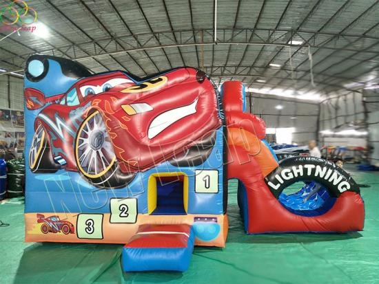 car theme inflatable bouncy slide