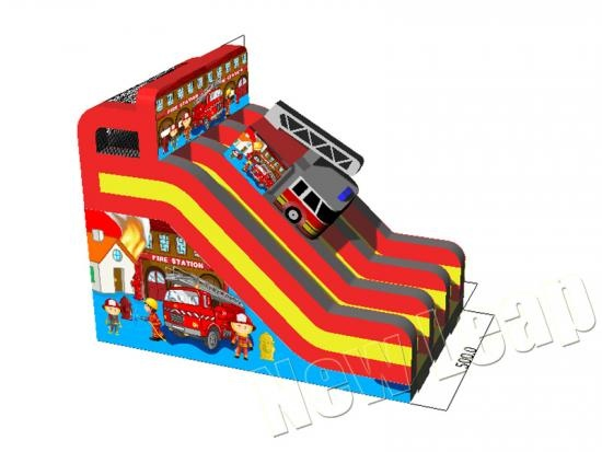 fire engine inflatable slide